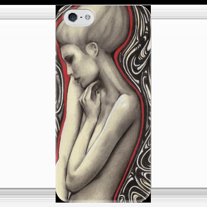 Чехол для iPhone 5 глянцевый, с полной запечаткой Printio Girl. чехол для iphone 5 глянцевый с полной запечаткой printio цикличность