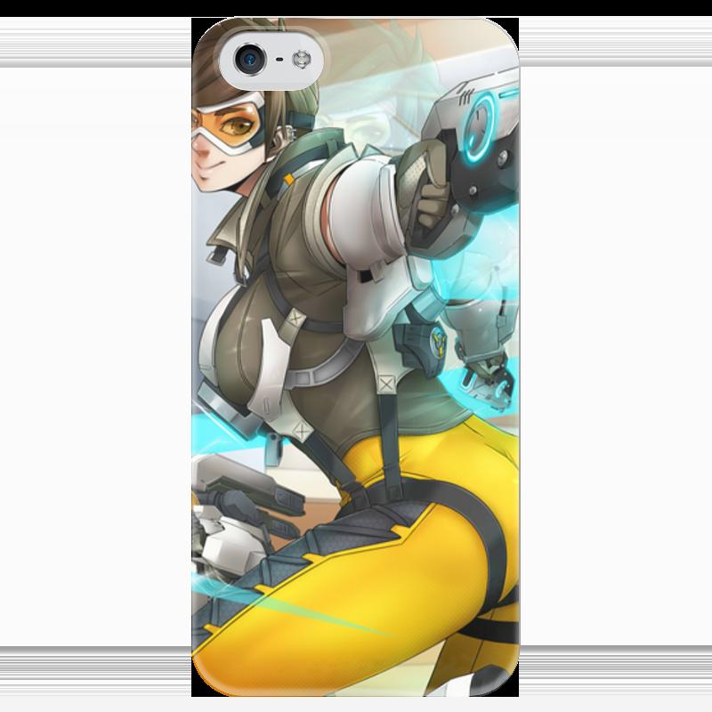 Чехол для iPhone 5 глянцевый, с полной запечаткой Printio Трейсер чехол для iphone 4 глянцевый с полной запечаткой printio бэтмен