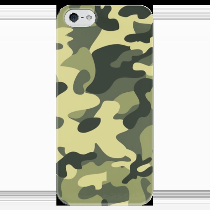 Чехол для iPhone 5 глянцевый, с полной запечаткой Printio Камуфляж чехол для iphone 4 глянцевый с полной запечаткой printio бэтмен