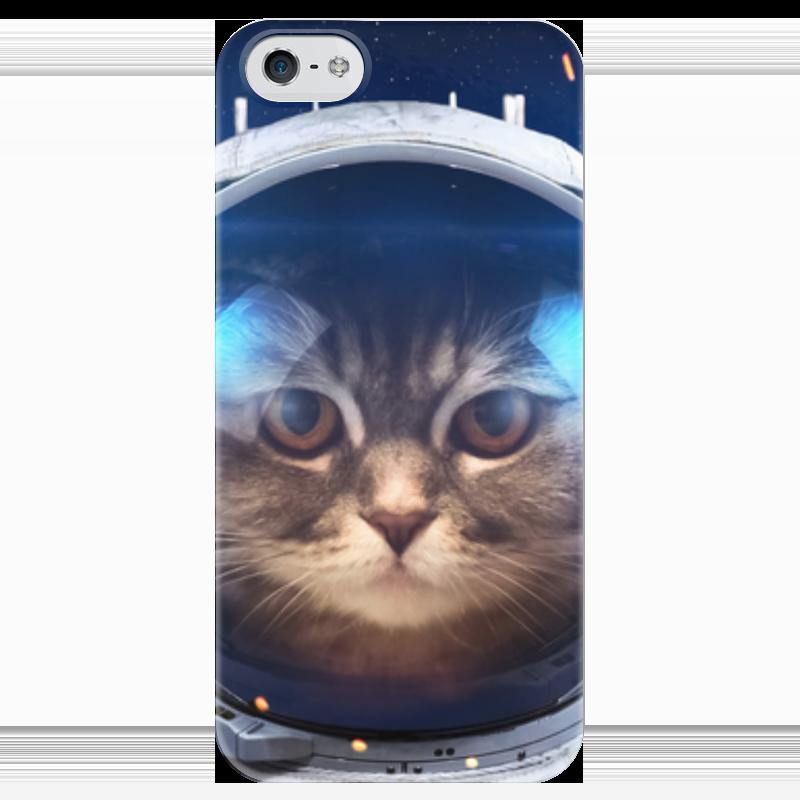 Чехол для iPhone 5 глянцевый, с полной запечаткой Printio Котосмонавт чехол для iphone 5 с подставкой с полной запечаткой printio котосмонавт