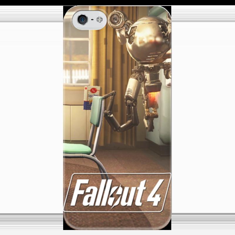 Чехол для iPhone 5 глянцевый, с полной запечаткой Printio Fallout 4 mr.handy bot чехол для iphone 4 глянцевый с полной запечаткой printio кролик