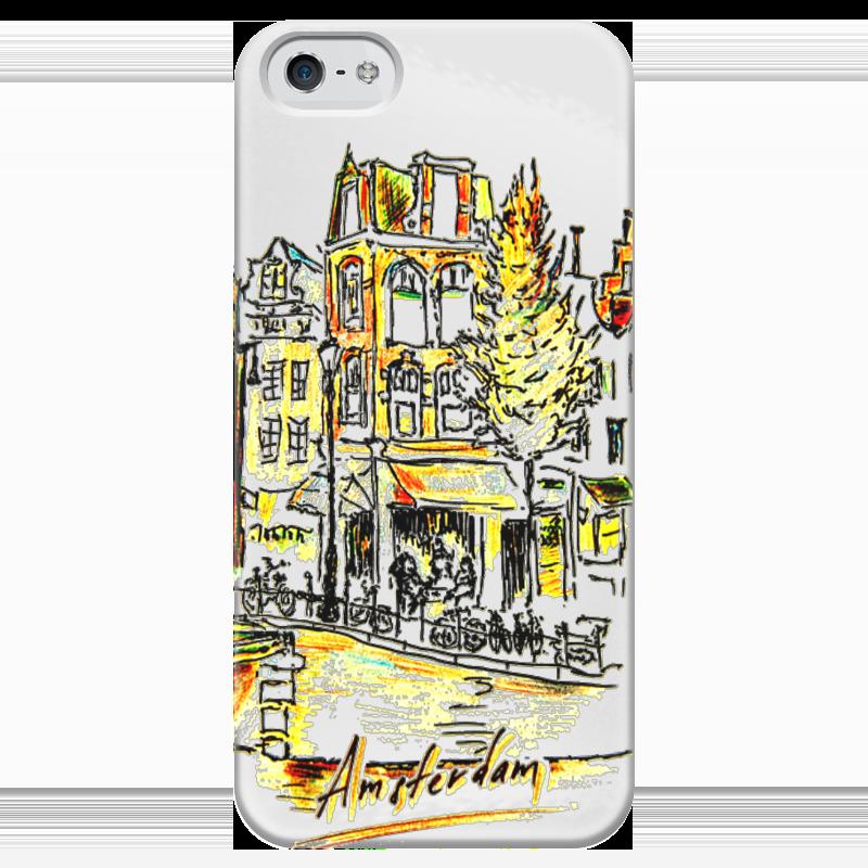 Чехол для iPhone 5 глянцевый, с полной запечаткой Printio Амстердам торт printio набережная в крыму константин коровин
