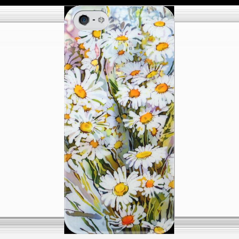 Чехол для iPhone 5 глянцевый, с полной запечаткой Printio Букет ромашек. набор для вышивания крестом букет полевых цветов риолис 924