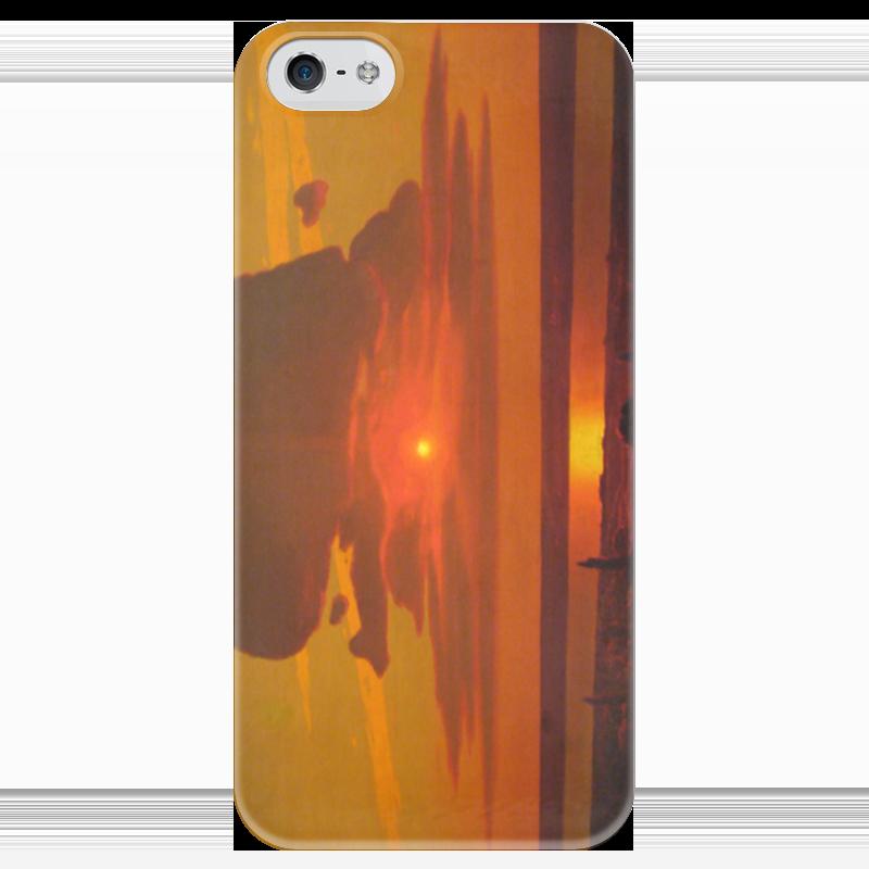 Чехол для iPhone 5 глянцевый, с полной запечаткой Printio Красный закат (картина архипа куинджи) чехол для blackberry z10 printio север картина архипа куинджи