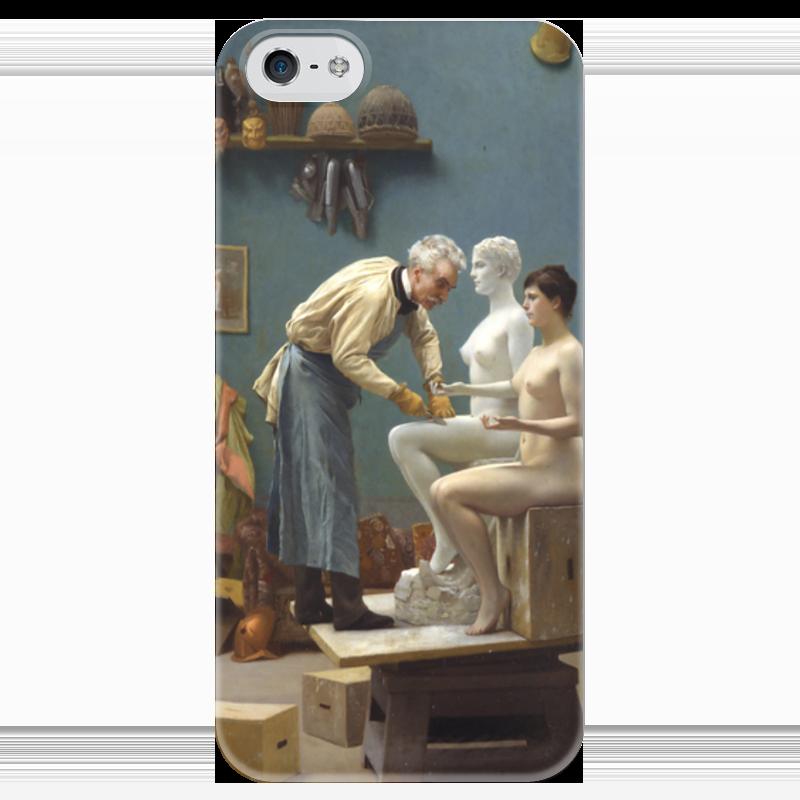 Чехол для iPhone 5 глянцевый, с полной запечаткой Printio Модель скульптора (жан-леон жером) чехол для iphone 5 глянцевый с полной запечаткой printio последняя молитва христианских мучеников жером