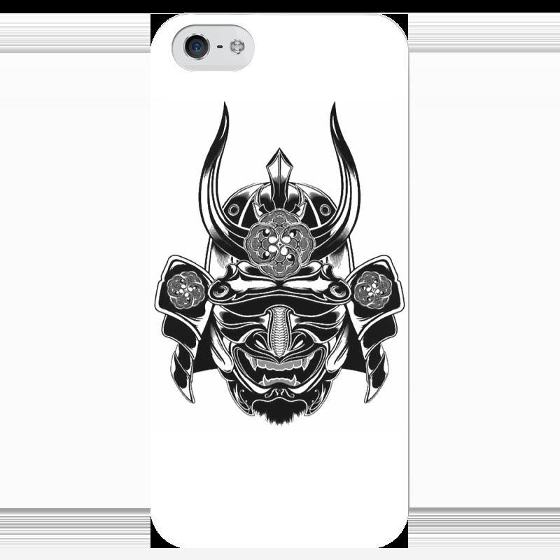 Чехол для iPhone 5 глянцевый, с полной запечаткой Printio Самурай 3 чехол для маски 100