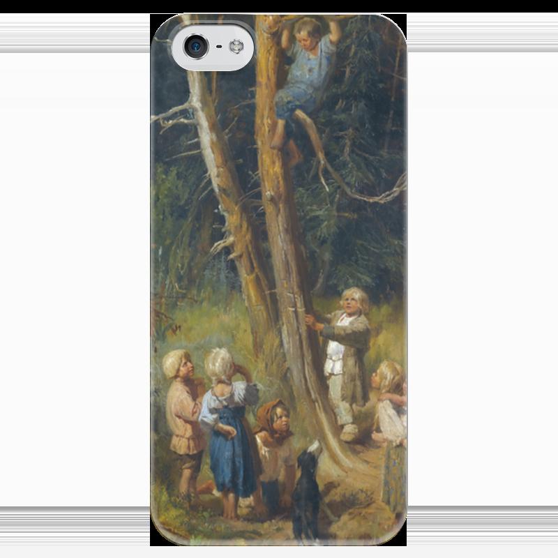 Чехол для iPhone 5 глянцевый, с полной запечаткой Printio Дети разоряют гнёзда в лесу виктор васнецов минувших дней печаль и радость набор репродукций