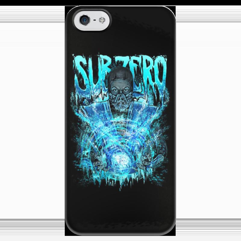 Чехол для iPhone 5 глянцевый, с полной запечаткой Printio Sub-zero (mortal kombat)