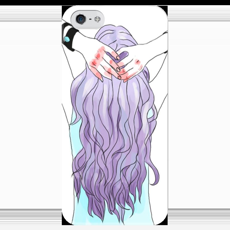 Чехол для iPhone 5 глянцевый, с полной запечаткой Printio Фиолетовый чехол для карточек монстр фиолетовый дк2017 105