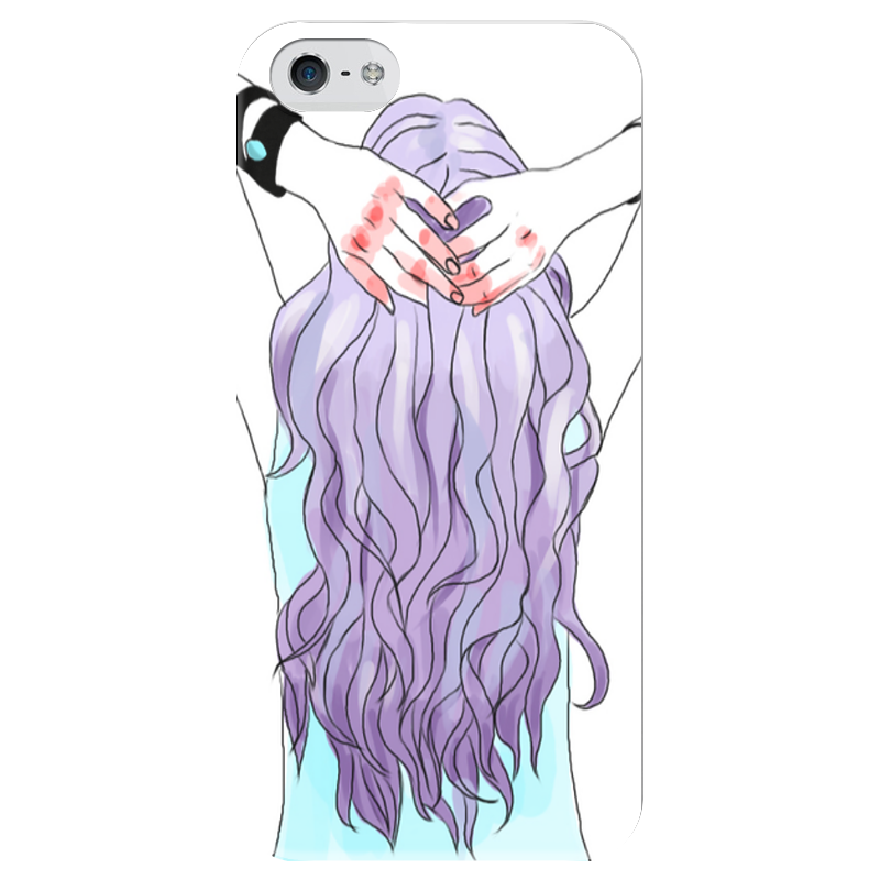 Чехол для iPhone 5 глянцевый, с полной запечаткой Printio Фиолетовый чехол для iphone 5 глянцевый с полной запечаткой printio хайзенберг