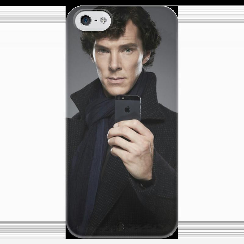 Чехол для iPhone 5 глянцевый, с полной запечаткой Printio Шерлок чехол для iphone 5 глянцевый с полной запечаткой printio анютины глазки