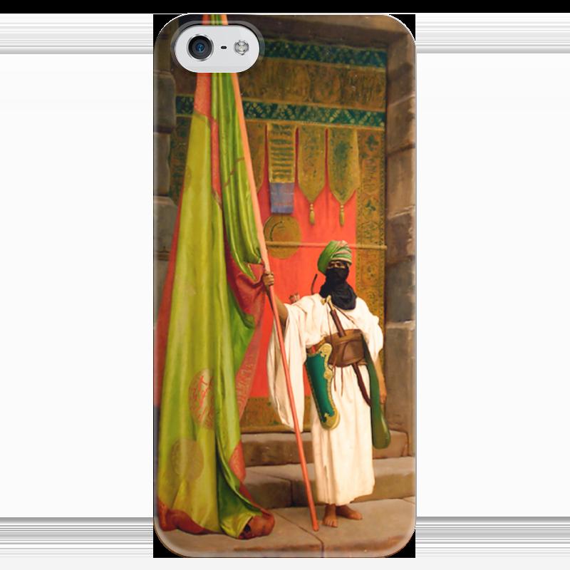 Чехол для iPhone 5 глянцевый, с полной запечаткой Printio Флаг пророка (жан-леон жером) чехол для iphone 5 глянцевый с полной запечаткой printio последняя молитва христианских мучеников жером