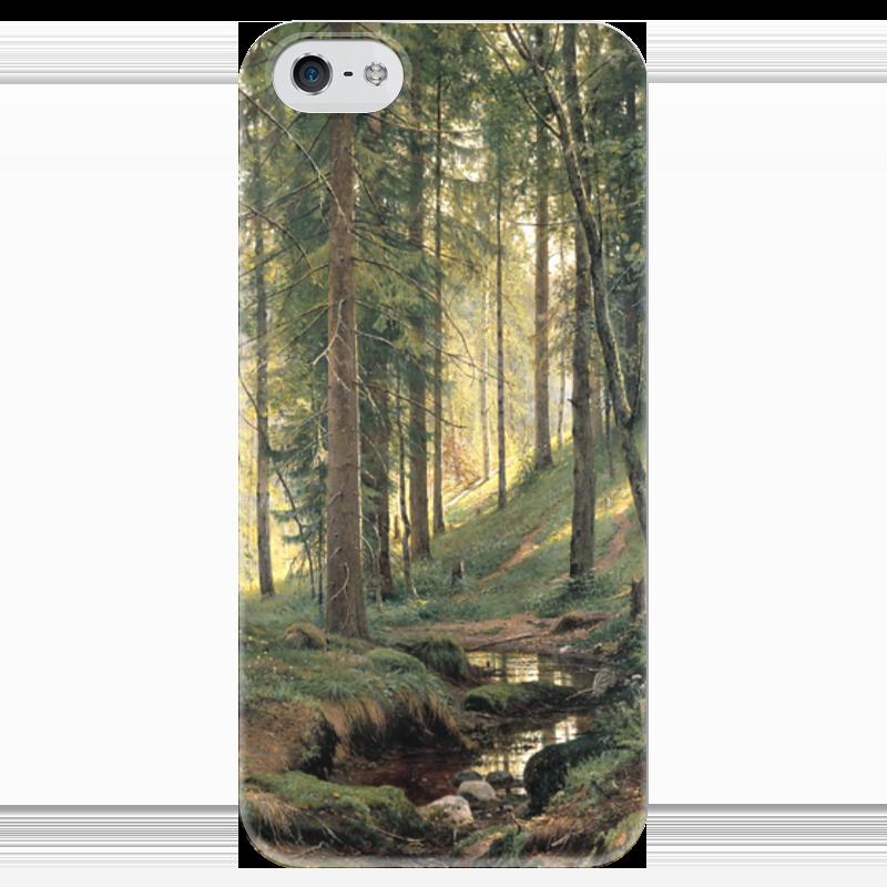 Чехол для iPhone 5 глянцевый, с полной запечаткой Printio Ручей в лесу сумка с полной запечаткой printio лось в лесу