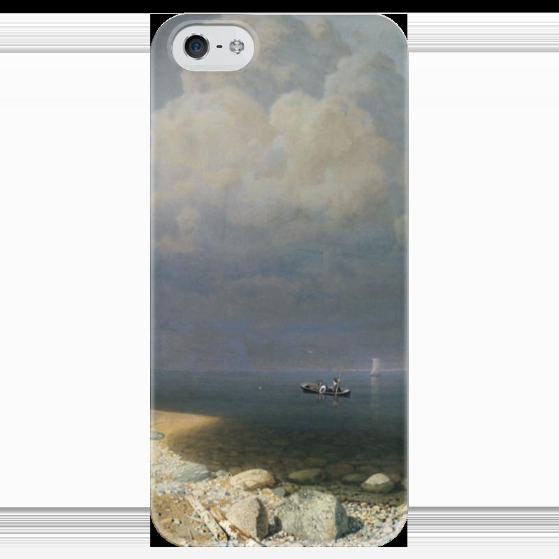 Чехол для iPhone 5 глянцевый, с полной запечаткой Printio Ладожское озеро (картина архипа куинджи) чехол для blackberry z10 printio север картина архипа куинджи