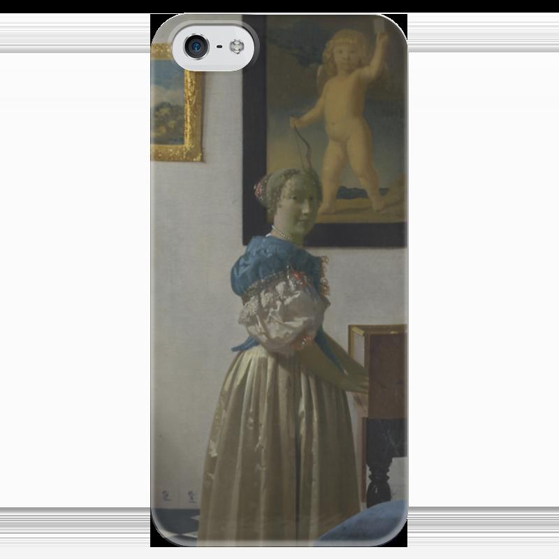 Чехол для iPhone 5 глянцевый, с полной запечаткой Printio Дама, стоящая у вирджиналя чехол для iphone 5 глянцевый с полной запечаткой printio дама в голубом картина гейнсборо