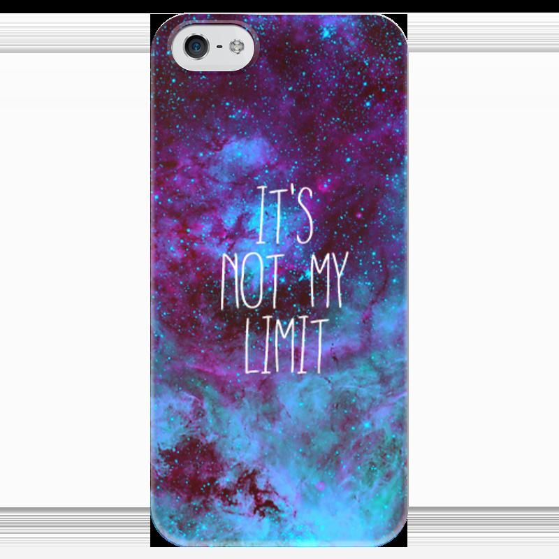 Чехол для iPhone 5 глянцевый, с полной запечаткой Printio It's not my limit