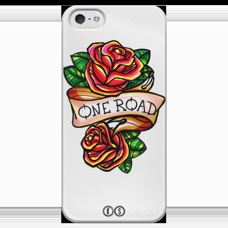 Чехол для iPhone 5 глянцевый, с полной запечаткой Printio One road чехол для iphone 5 глянцевый с полной запечаткой printio twenty one pilots