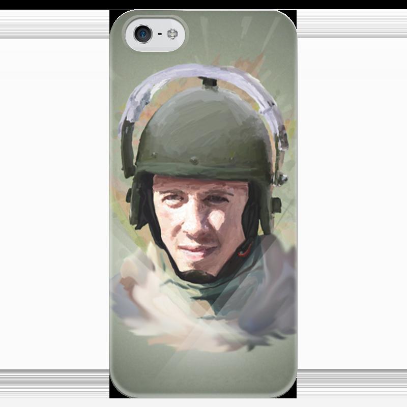 Чехол для iPhone 5 глянцевый, с полной запечаткой Printio Спецназ чехол
