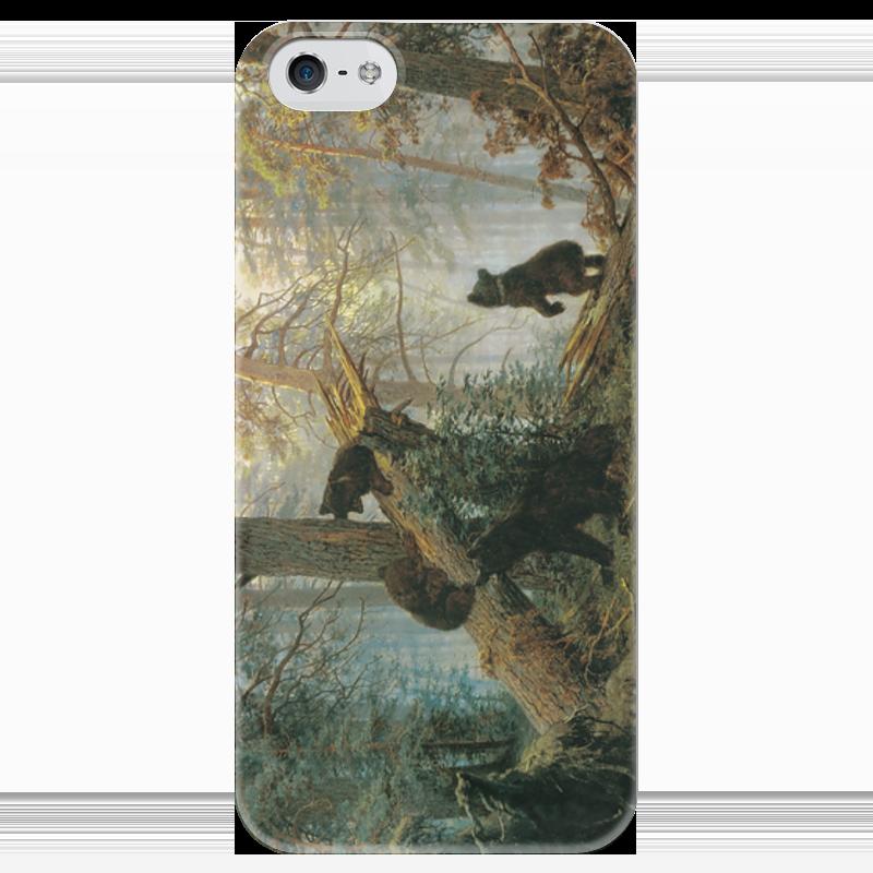 Чехол для iPhone 5 глянцевый, с полной запечаткой Printio Утро в сосновом лесу (иван шишкин) иван комлев ковыль