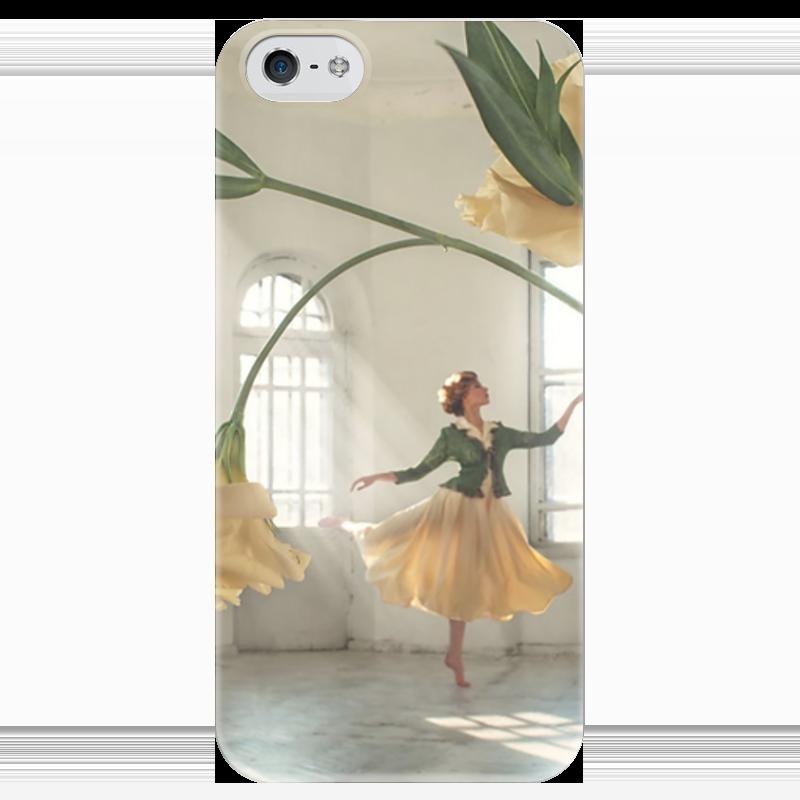 Чехол для iPhone 5 глянцевый, с полной запечаткой Printio Танцовщица чехол для iphone 5 глянцевый с полной запечаткой printio ember spirit dota 2