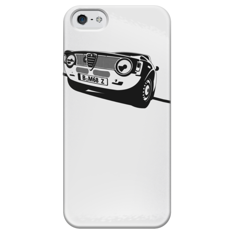 Чехол для iPhone 5 глянцевый, с полной запечаткой Printio Retro alfa romeo racing наклейки tony 2 74 alfa romeo mito 147 156 159 166 giulietta gt