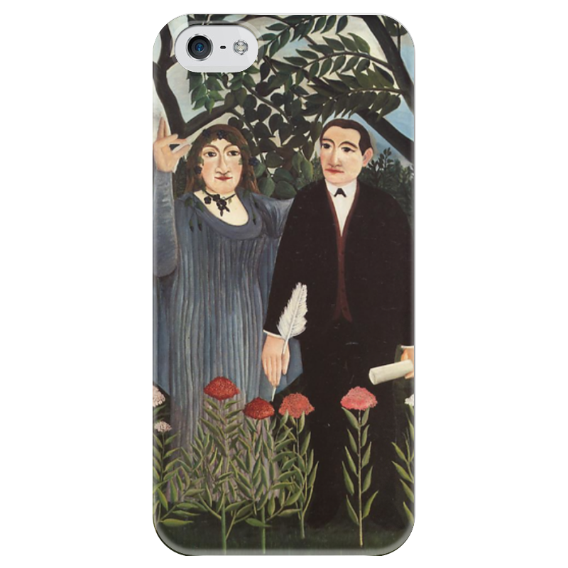 Чехол для iPhone 5 глянцевый, с полной запечаткой Printio Муза, вдохновляющая поэта birds of prey