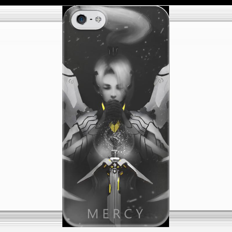 Чехол для iPhone 5 глянцевый, с полной запечаткой Printio Mercy чехол для iphone 5 глянцевый с полной запечаткой printio ember spirit dota 2