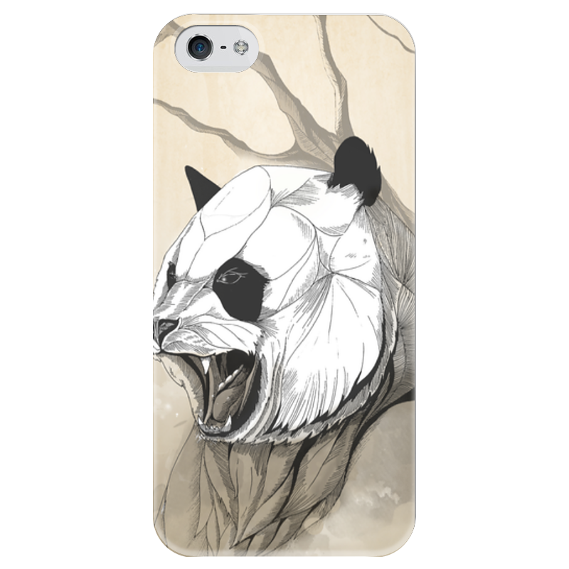 Чехол для iPhone 5 глянцевый, с полной запечаткой Printio Панда чехол для iphone 5 глянцевый с полной запечаткой printio ember spirit dota 2