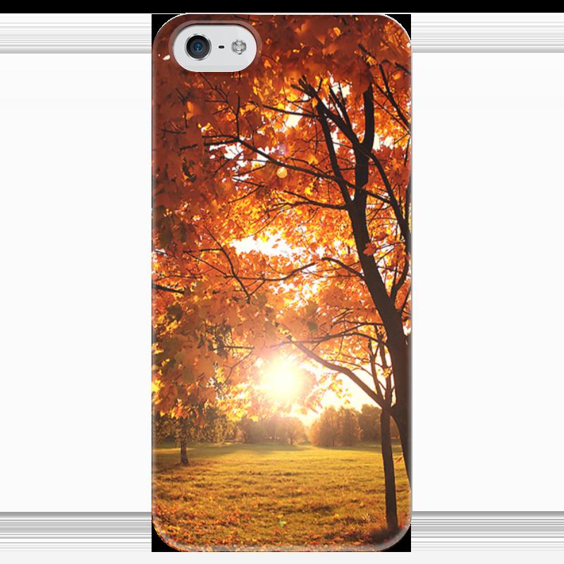 Чехол для iPhone 5 глянцевый, с полной запечаткой Printio Золотая осень чехол для iphone 5 с подставкой с полной запечаткой printio осень