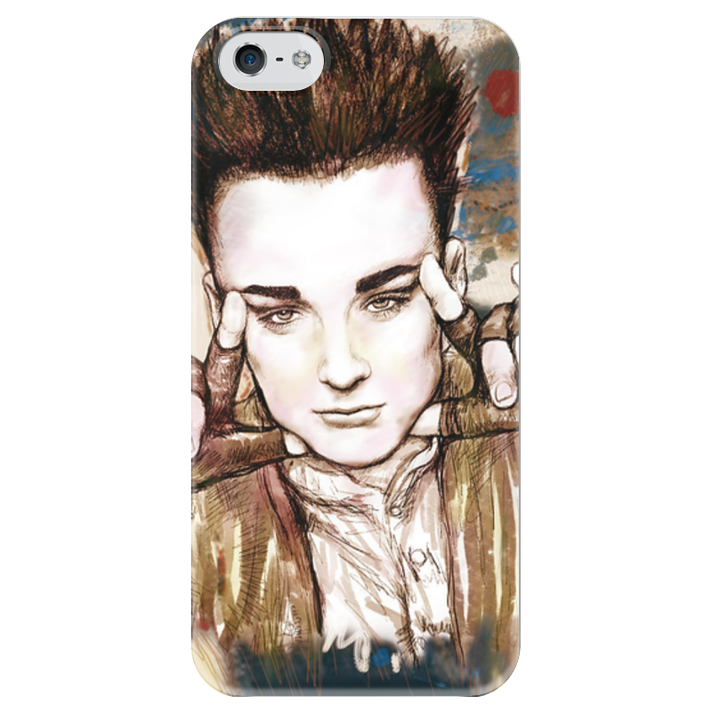 Чехол для iPhone 5 глянцевый, с полной запечаткой Printio Art boy чехол для iphone 6 глянцевый printio fallout boy