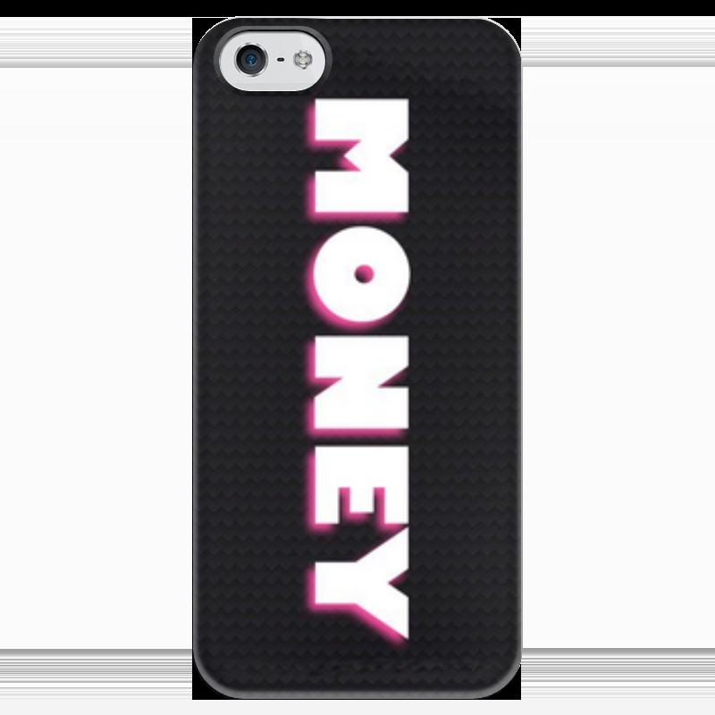 Чехол для iPhone 5 глянцевый, с полной запечаткой Printio Money