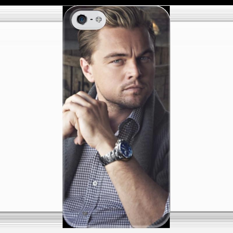 Чехол для iPhone 5 глянцевый, с полной запечаткой Printio Леонардо дикаприо какой iphone лучше для россии