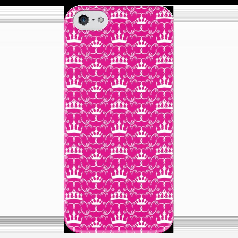 Чехол для iPhone 5 глянцевый, с полной запечаткой Printio Короны принцесс