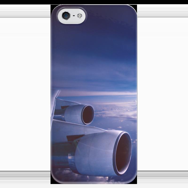 Чехол для iPhone 5 глянцевый, с полной запечаткой Printio Самолет бюсси м самолет без нее