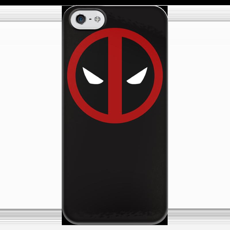 Чехол для iPhone 5 глянцевый, с полной запечаткой Printio Deadpool чехол для iphone 4 глянцевый с полной запечаткой printio deadpool