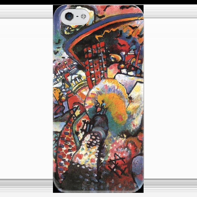 Чехол для iPhone 5 глянцевый, с полной запечаткой Printio Москва. красная площадь iphone китайский недорого г москва