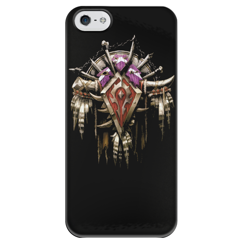 Чехол для iPhone 5 глянцевый, с полной запечаткой Printio Warcraft аксессуар чехол для lenovo tab 4 plus 10 1 tb x704l g case executive dark blue gg 863