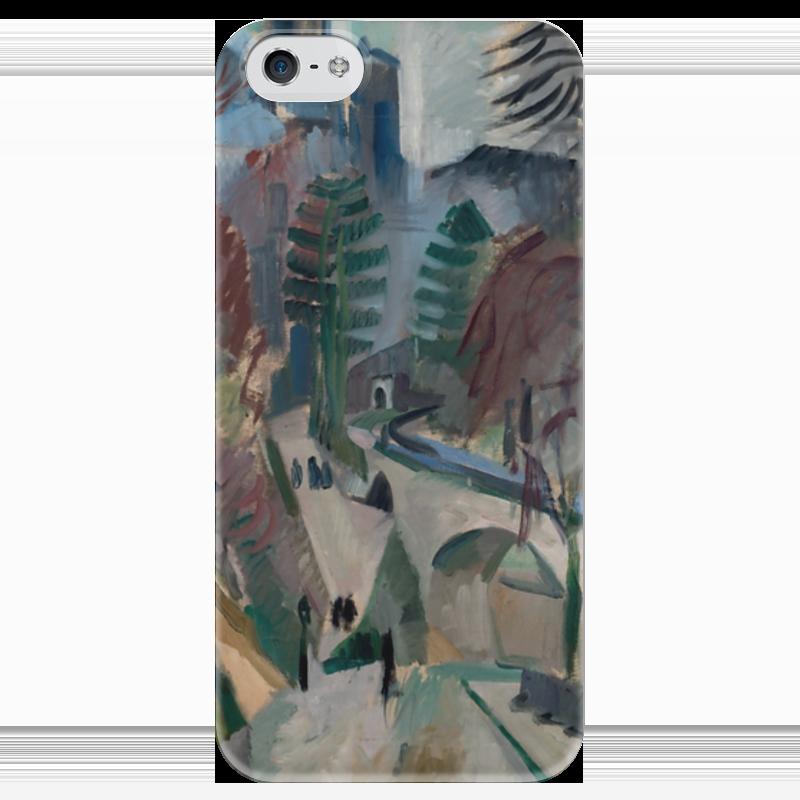 Чехол для iPhone 5 глянцевый, с полной запечаткой Printio Пейзаж в лаоне (робер делоне) н б делоне квантовая природа вещества