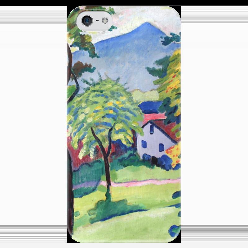Чехол для iPhone 5 глянцевый, с полной запечаткой Printio Пейзаж в тегернзее (август маке) чехол для iphone 4 глянцевый с полной запечаткой printio шляпный магазин август маке