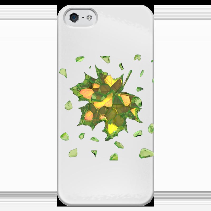 Чехол для iPhone 5 глянцевый, с полной запечаткой Printio Осень близко... чехол для iphone 5 с подставкой с полной запечаткой printio осень