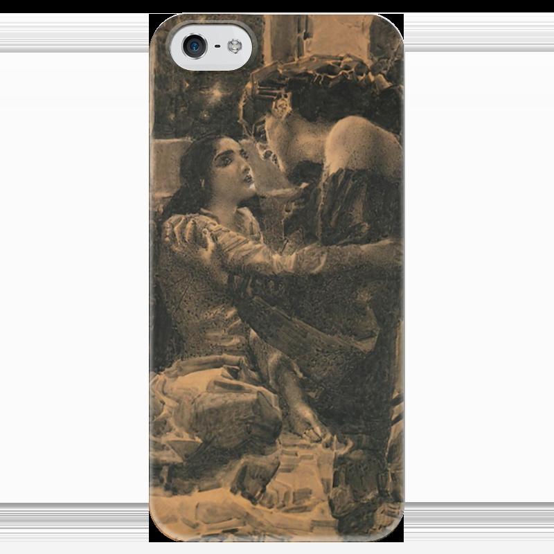 Чехол для iPhone 5 глянцевый, с полной запечаткой Printio Демон и тамара подобен богу ретроспектива жизни м ю лермонтова