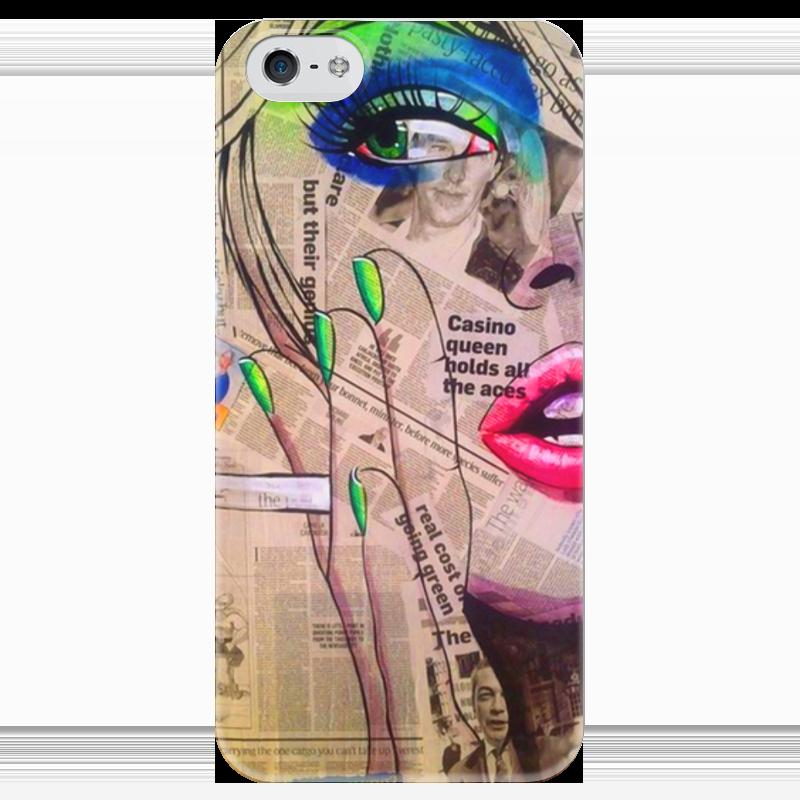 Чехол для iPhone 5 глянцевый, с полной запечаткой Printio Girl чехол для iphone 5 глянцевый с полной запечаткой printio манфред форд браун