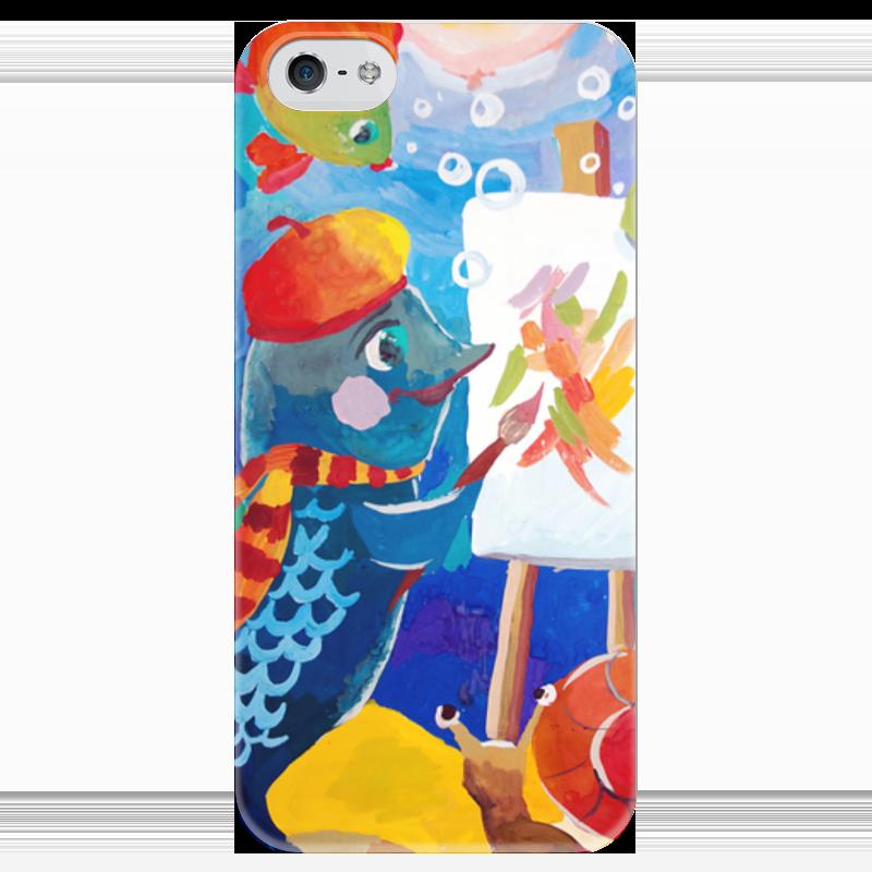 Чехол для iPhone 5 глянцевый, с полной запечаткой Printio Подводный мир познаю мир для одаренных детей 4 5 лет