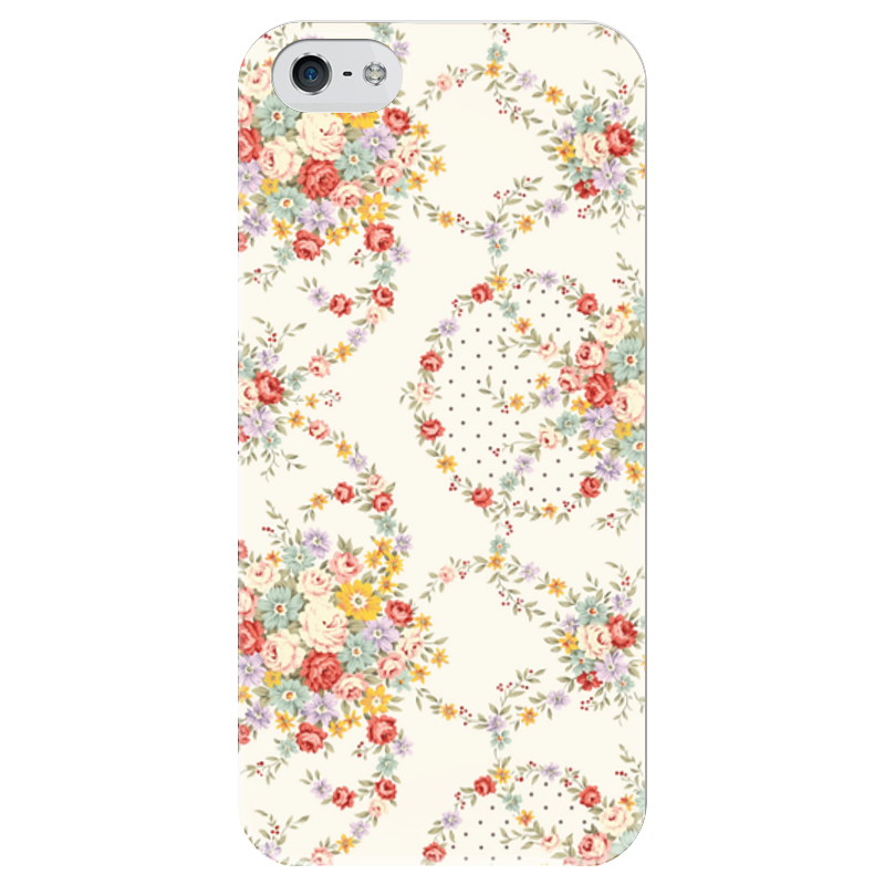 Чехол для iPhone 5 глянцевый, с полной запечаткой Printio Цветы чехол для iphone 6 глянцевый printio летний сад