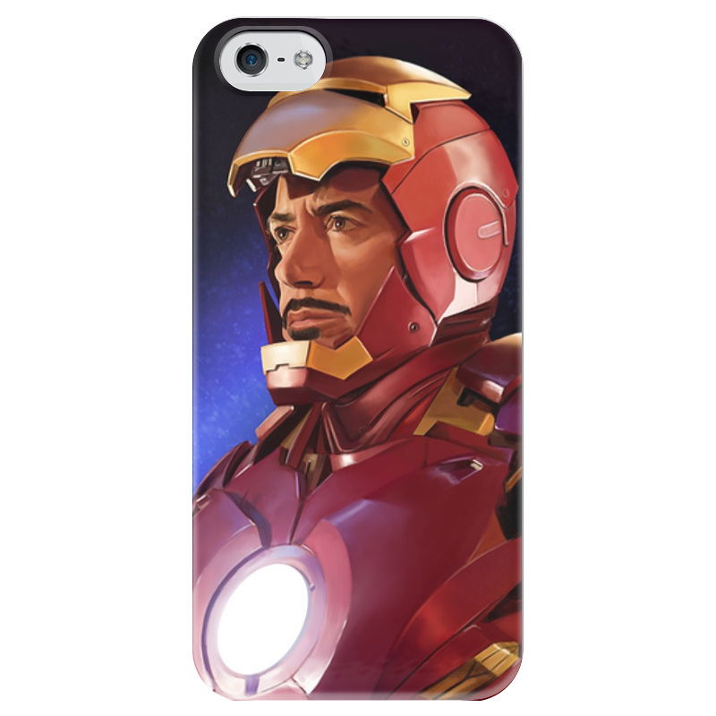 Чехол для iPhone 5 глянцевый, с полной запечаткой Printio Супергерои: железный человек чехол для iphone 5 глянцевый с полной запечаткой printio супергерои black canary