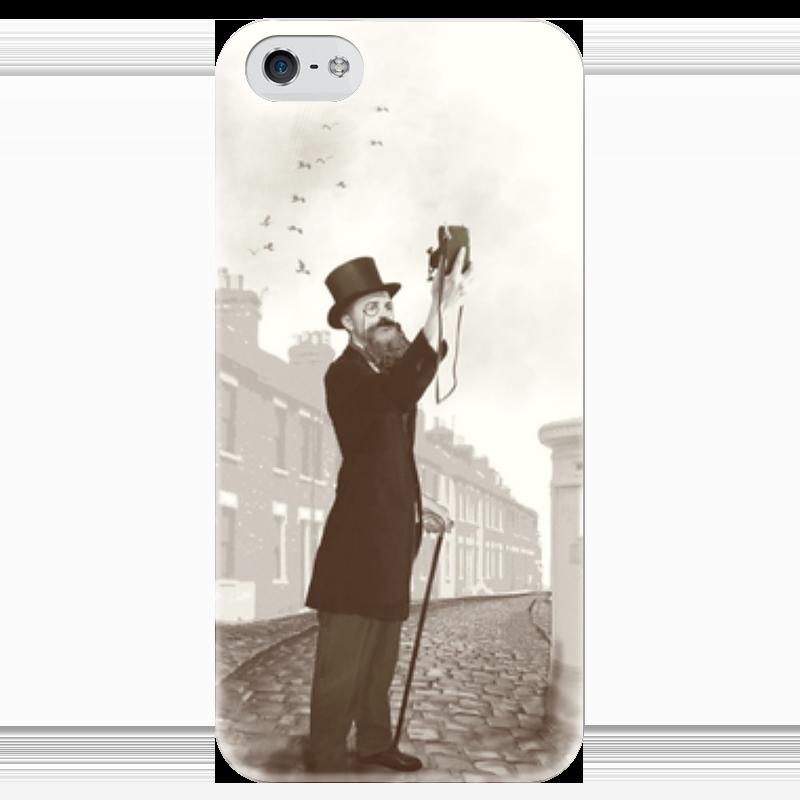 Чехол для iPhone 5 глянцевый, с полной запечаткой Printio Винтажное селфи