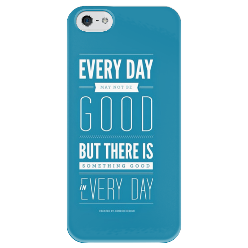 Чехол для iPhone 5 глянцевый, с полной запечаткой Printio Every day футболка классическая printio every day