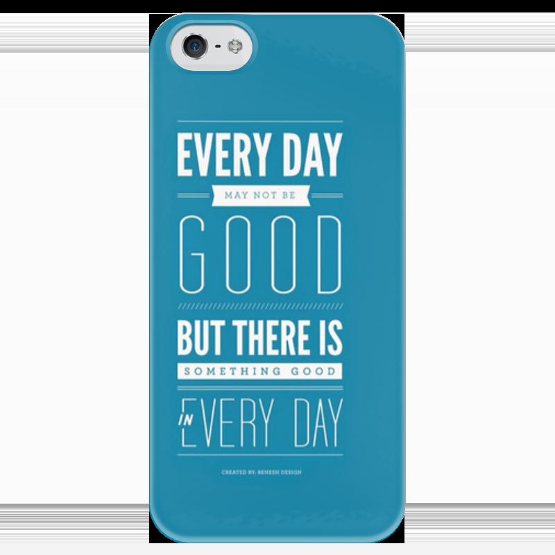 Чехол для iPhone 5 глянцевый, с полной запечаткой Printio Every day every набор чехлов для дивана every цвет кремовый