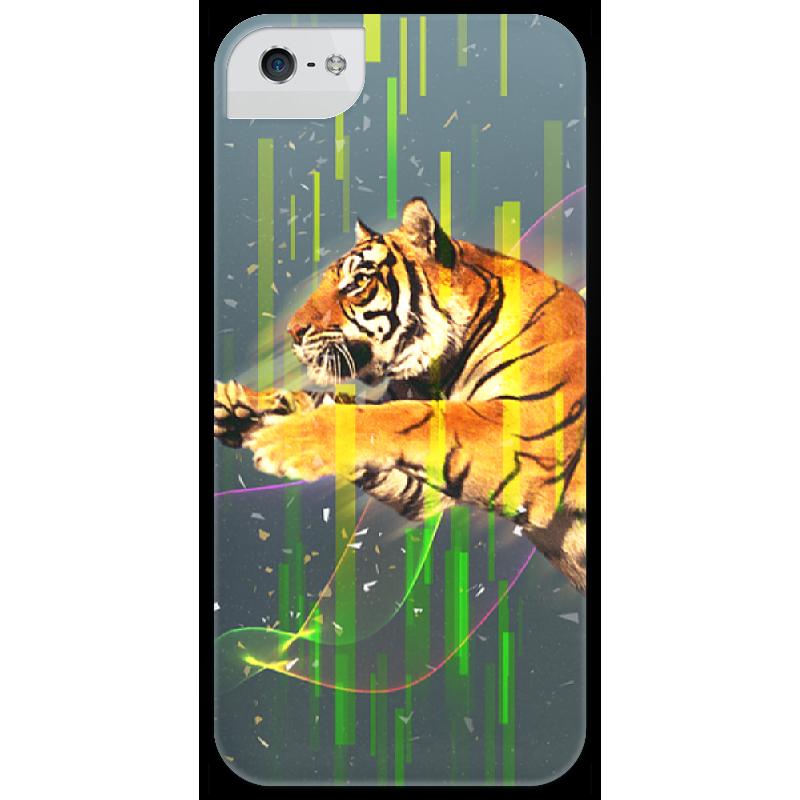 Чехол для iPhone 5 глянцевый, с полной запечаткой Printio Tiger сумка с полной запечаткой printio лось в лесу