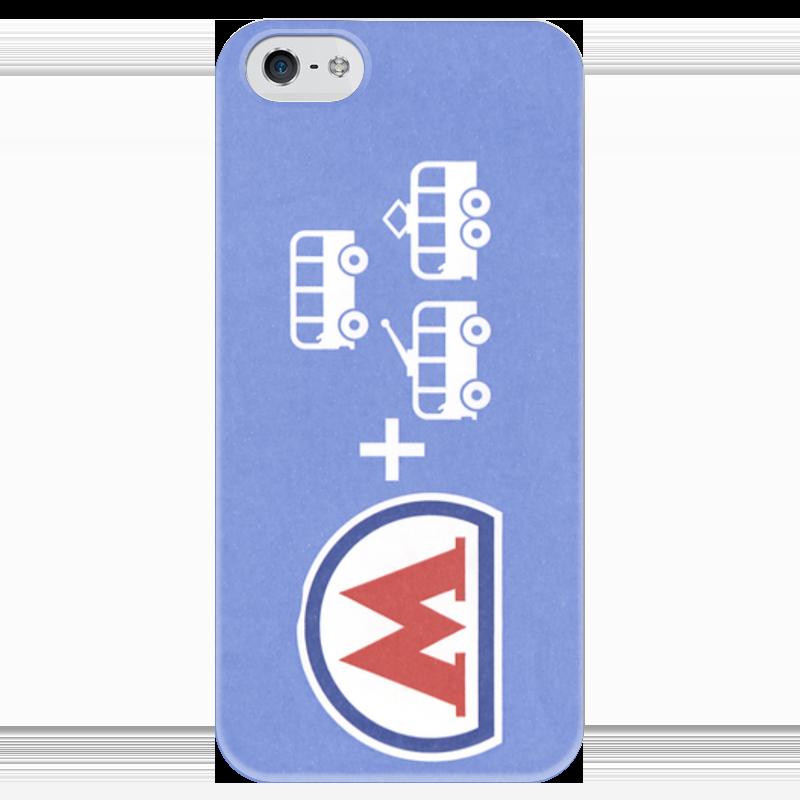 Чехол для iPhone 5 глянцевый, с полной запечаткой Printio билет метро как онлайн t10 билет для барселоны